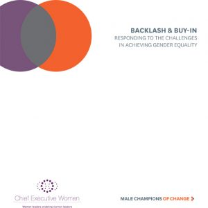 Cover of resource, Backlash and buy-in: Responding to the challenges in achieving gender equality