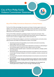 Screenshot of City of Port Phillip Family Violence Commitment Statement