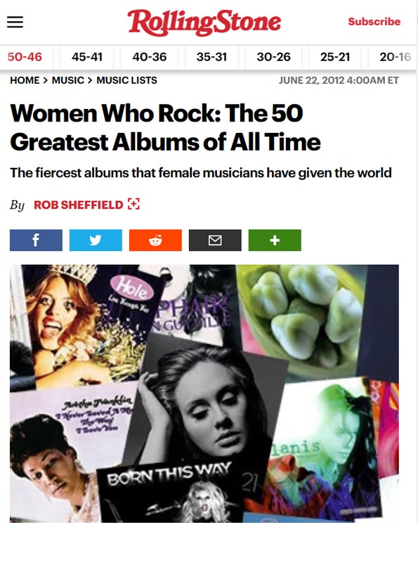 Women who rock: The 50 greatest albums of all time - Our Watch