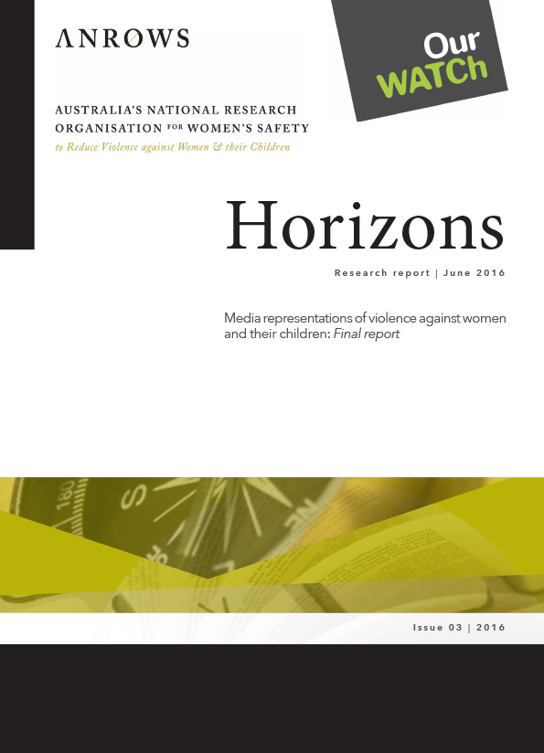 Cover of resource with black text on white background and ANROWS and Our Watch logos